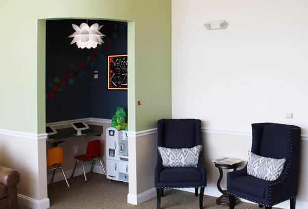 Kids dentist amenities