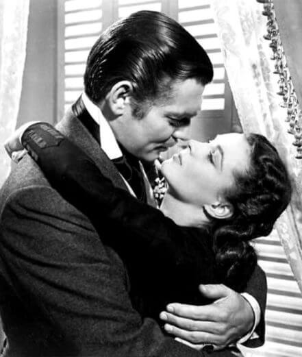 Clark Gable plays Rhett Butler in Gone with the Wind while wearing dentures after a gum disease infection